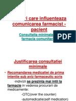 Factori Care Influenteaza Comunicarea Farmacist - Pacient Curs III