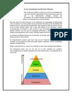 Pirámide de necesidades de Abraham Maslow