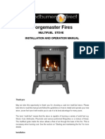 Cast Iron Stove Installation and Operation Manual Forgemaster Fires