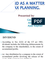 Taxability of Dividend