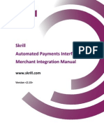 Skrill Payments Interface Manual