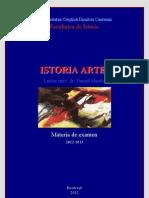 1. Istoria Artei. Materia de Examen. 2012
