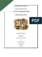 Geriatrics Reflective Paper