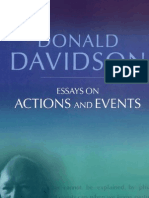 Davidson - Essays on Action and Events