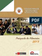 Prospecto Del Proceso de Admision 2013