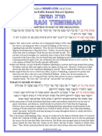 Mishpatim - Selections from Rabbi Baruch Epstein