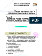 """Tema 8. Ejercicio físico """"terapéutico"""" en instalaciones no sanitarias."""