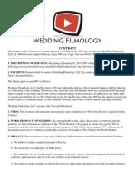 Wedding Filmology Contract