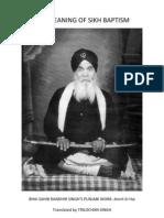 Meaning of Amrit-Bhai Randhir Singh