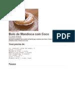 Bolo de Mandioca com Côco
