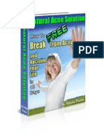 Natural Acne Solution How to Break Free From Acne and Reclaim Your Life