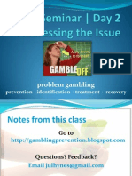 UO SAPP Problem Gambling Seminar | Day 2 Notes/Study Guide
