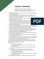 NSDAP 25 Points Manifesto
