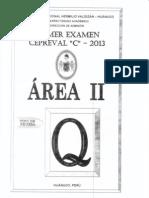 I EXAMEN CICLO C 2013 - ÁREA II