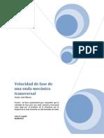 Lab - Luis Navas - Velocidad de Fase de Una Onda Mecanica Transversal