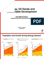 Energy Oil Sands and Sustainable Development