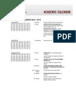Academic Calendar 2012-2013 MIT