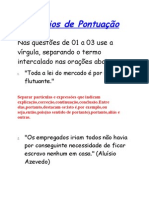 ExercÝcios de PontuaþÒo