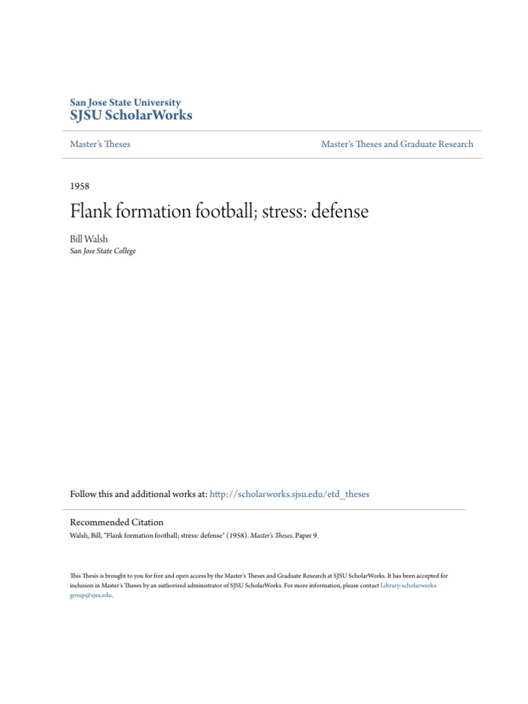 flank formation football stress defense