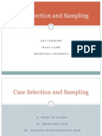 Case Selection and Sampling in Social Science Methodology