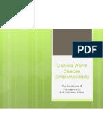 guinea worm disease- incidence  prevalence in sub-saharan africa