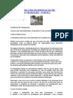 ROTEIRO PARA UMA INVESTIGAÇÃO DE ACIDENTE DE TRABALHO