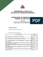 Manual de Prácticas de Farmacognosia.
