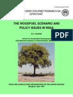 FAO RWEDP Wood Energy India 1995