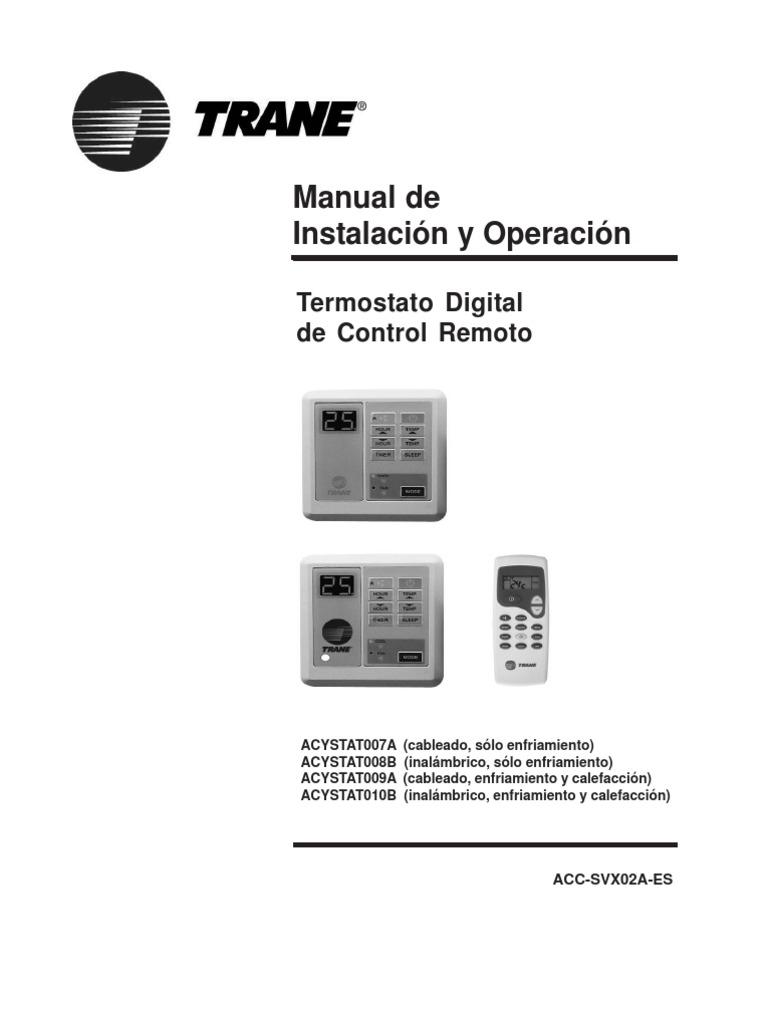 termostatos trane manual de instalacion rh fr scribd com Aires Acondicionados Split Aires Acondicionados Inverter