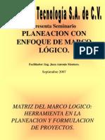 Planeacion Marco Logico Presentacion Marco Logico