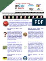 Monday - February 11, 2013 - ForeclosureGate Gazette