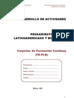 Cuadernillo Pensamiento Latinoamericano Boliviano