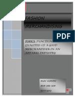 ASGNMNT Merchandising Functions