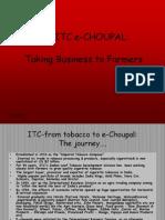 ITC e-choupal ppt