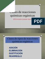 Clases de reacciones químicas orgánicasBREVE