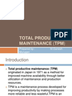 Intro to Total Productive Maintenance