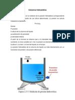 Columna hidrostática