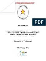 Constitution Parliamentary Select Committee (COPAC) Report on the Final Draft Constitution of Zimbabwe