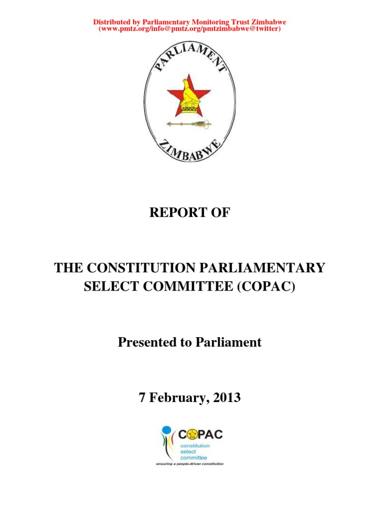 Constitution Parliamentary Select Committee (COPAC) Report