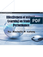 effectiveness of using e-learning on students performance-lolong