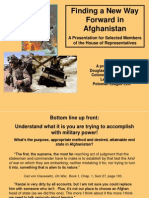 """Finding a Way Forward in Afghanistan"" Col. Macgregor's Presentation for House Members 6 OCT 2009"