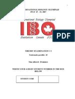 IBO 2007 Canada-Theory Exam(part 1)
