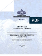 LEY 1333 - Ley de Medio Ambiente - Vigente Con Derogaciones