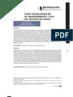 La Innovacion Tecnologica en El Area de Mtto y Sus Resultados. Estudio de Casos (1)