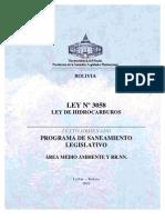 Ley_3058 - Ley de Hidrocarburos