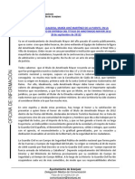 PALABRAS ALCALDESA PRESENTACIÓN Y ACTO ENTREGA TÍTULO AMOTINADO MAYOR 2012