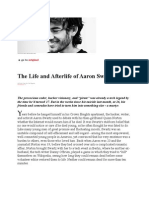 The Life and Afterlife of Information Activist Aaron Swartz