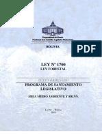 LEY 1700 - Ley Forestal - Vigente Con Derogaciones