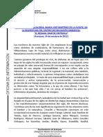 PALABRAS ALCALDESA REAPERTURA CENTRO EDUCACIÓN AMBIENTAL