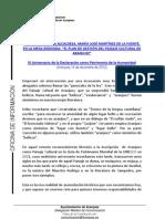 INTERVENCIÓN DE LA ALCALDESA EN LA MESA REDONDA EL PLAN DE GESTIÓN DEL PAISAJE CULTURAL DE ARANJUEZ